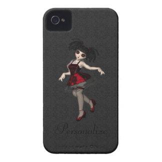 Dança pequena bonito corajosa da menina do gótico  iPhone 4 capas