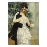 Dança por Renoir, arte da cidade do impressionismo Cartão