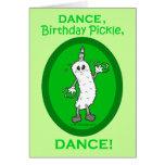 Dança, salmoura do aniversário, dança! cartao