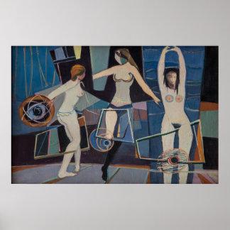 Dançando - por Adam Bekerman, belas artes Poster