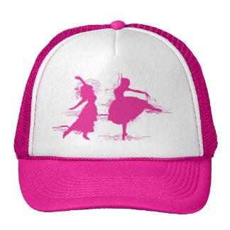 Dançarino cor-de-rosa boné