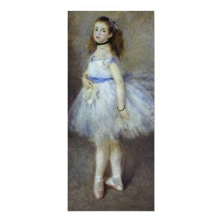 Dançarino de balé por Renoir, arte do Convite 10.16 X 23.49cm