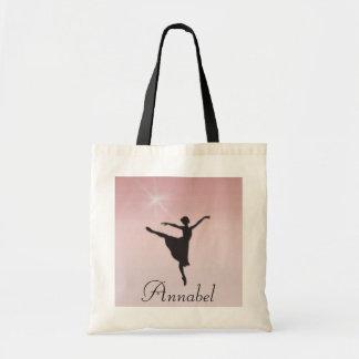 Dançarino de balé sacola tote budget