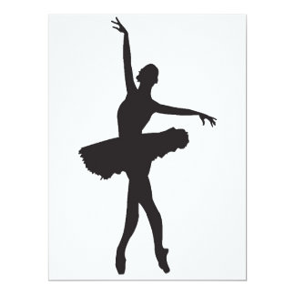 """DANÇARINO de BALÉ (silhueta) da bailarina ~.png Convite 16.51"""" X 22.22cm"""