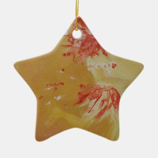 Dançarino do fogo ornamento de cerâmica estrela