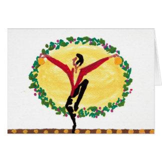 Dançarino do Natal Cartão Comemorativo