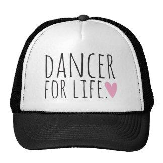 Dançarino para o preto da vida com coração boné