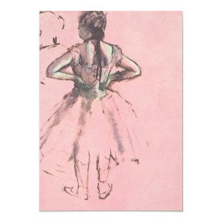 Dançarino visto da parte traseira por Edgar Degas Convite 12.7 X 17.78cm