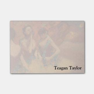 Dançarinos de Edgar Degas | em saias amarelas Sticky Note