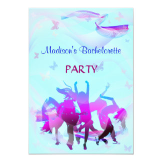 Dance party de Bachelorette Convite 12.7 X 17.78cm