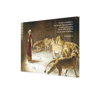 Daniel na escritura da arte da bíblia do antro do  impressão em tela