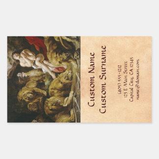 Daniel na pintura de Peter Paul Rubens do antro do Adesivo Retangular