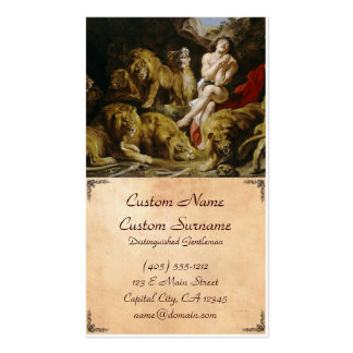 Daniel na pintura de Peter Paul Rubens do antro do Cartão De Visita