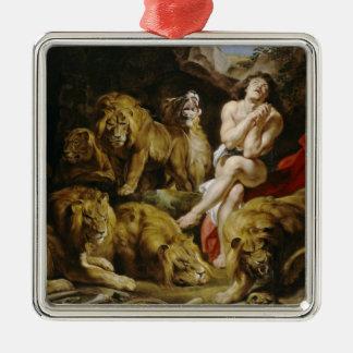 Daniel na pintura de Peter Paul Rubens do antro do Ornamento Quadrado Cor Prata