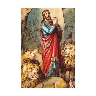 Daniel nas canvas do antro do ` s do leão impressão de canvas esticada