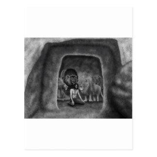 Daniel no antro do leão cartao postal
