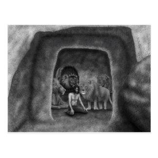 Daniel no antro do leão cartão postal