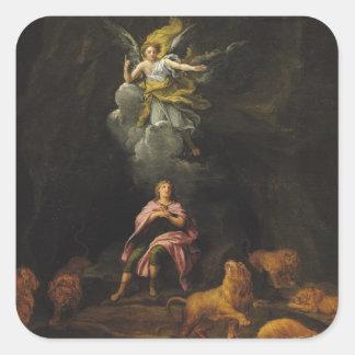 Daniel no antro dos leões adesivo quadrado