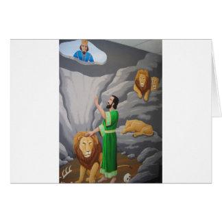 Daniel no antro dos leões cartão comemorativo
