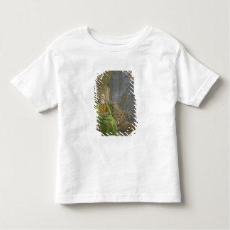 Daniel no antro dos leões, de uma bíblia impressa camiseta
