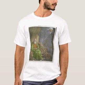 Daniel no antro dos leões, de uma bíblia impressa camisetas