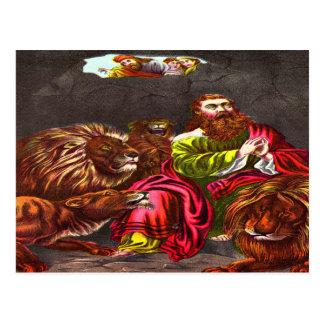 Daniel no cartão do antro do ` s do leão cartões postais