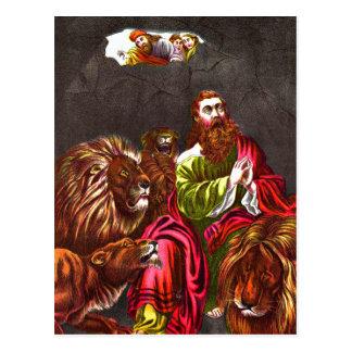 Daniel no cartão do antro do ` s do leão cartao postal