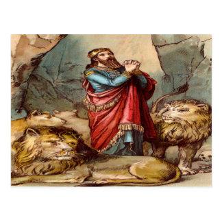 Daniel no cartão do antro do ` s do leão cartão postal