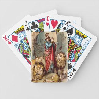 Daniel nos cartões de jogo do antro do ` s do leão baralho de cartas
