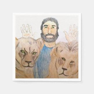 Daniel nos guardanapo do antro dos leões guardanapo de papel
