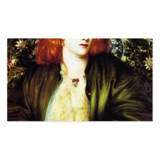 Dante Gabriel Rossetti- o Bower azul Modelos Cartões De Visita