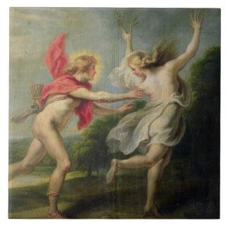 Daphne e Apollo (óleo) Azulejo Quadrado Grande