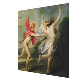 Daphne e Apollo (óleo) Impressão Em Tela