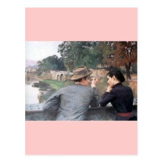 Data romântica pelo rio cartão postal