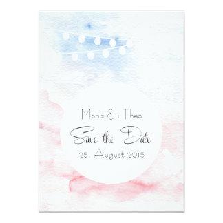 Date Save the - cartão postal em toms tenros Convite 11.30 X 15.87cm
