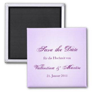 Date Save the de íman em lilás para Sua boda