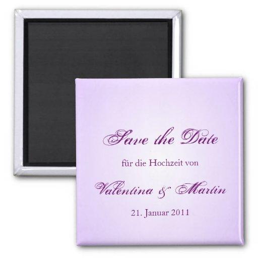 Date Save the de íman em lilás para Sua boda Imas De Geladeira