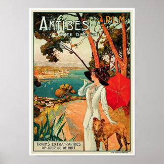 d'Azur de Côte do ~ de Antibes Poster
