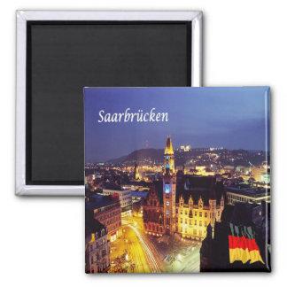 DE - Alemanha - Saarbrücken Ímã Quadrado