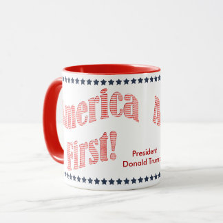 """De """"América citações do presidente Donald Trump Caneca"""
