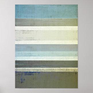 "De ""arte abstracta azul nenhuns limites"" pôster"