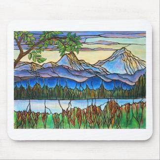 """De """"arte da paisagem do vitral um dia fino""""! mouse pad"""