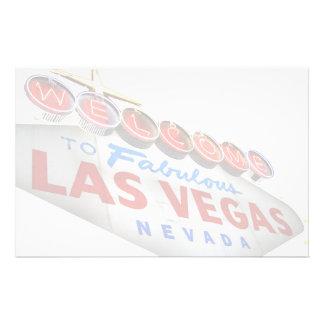 Dê boas-vindas a Las Vegas fabuloso a artigos de Papelaria