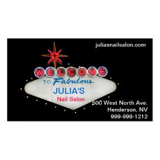 Dê boas-vindas a Las Vegas fabuloso a cartões de v Cartão De Visita