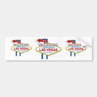 Dê boas-vindas a Las Vegas fabuloso ao Natal Adesivo Para Carro
