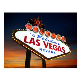 Dê boas-vindas a Las Vegas fabuloso Nevada Cartão Postal