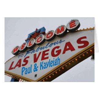 Dê boas-vindas a Las Vegas fabuloso Paul & ao cart Cartão Comemorativo
