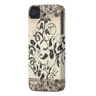De caixa corajosa de Blackberry do rolo do vintage Capa iPhone 4 Case-Mate