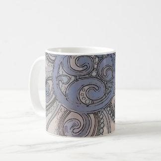 """De """"caneca azul do design da onda cérebro"""" caneca de café"""