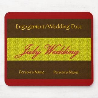 """De """"casamento"""" Mousepad julho - customizável"""